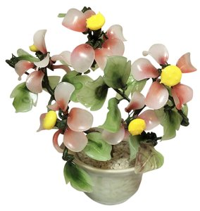 Other Faux Jade Bonsai ; Flowering Shrub; Glass [ Roxanne Anjou Closet ]