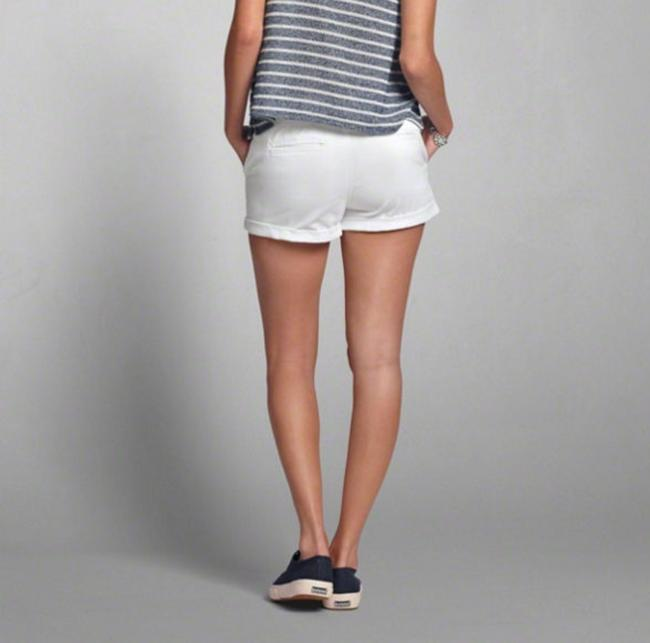 Abercrombie & Fitch Nwot Cuffed Shorts White