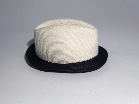 Gucci Gucci Two Tone Black Natural Straw Fedora Hat Image 4