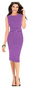 Polka Dot Vintage Bodycon Dress