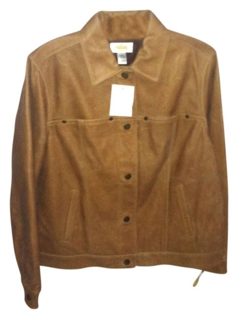 Talbots Ca#23147 Brown Leather Jacket