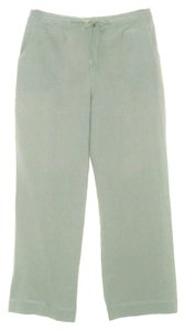Soft Surroundings Linen Cotton New Without Tags Relaxed Pants Green