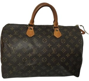 Louis Vuitton Speedy 35 Speedy Alma Satchel in Brown