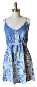 Lily White short dress Blue, White, Purple Blue Paisley on Tradesy