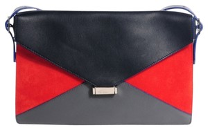 Céline navy, red, grey Clutch