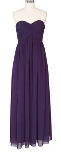 Purple Chiffon Strapless Sweetheart Long Size:[8] Modern Bridesmaid/Mob Dress Size 8 (M)