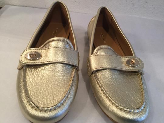 Coach NEW Gold leather lining leather padded insoles Flats