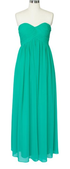 Green Chiffon Strapless Sweetheart Long Size:[10] Formal Bridesmaid/Mob Dress Size 10 (M)