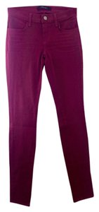 J Brand Designer Denim Plum Skinny Super Skinny Colored Size 24 Skinny Jeans