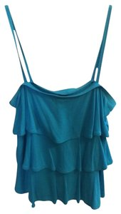 Gap Ruffle Top Aqua Blue