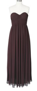 Brown Chocolate Strapless Sweetheart Long Chiffon Size:[18] Dress