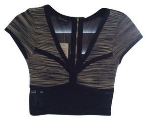 bebe Top Black / White