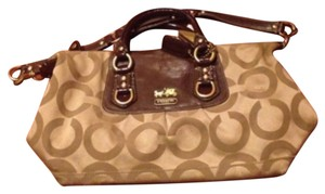 Coach Satchel in Brown/gold
