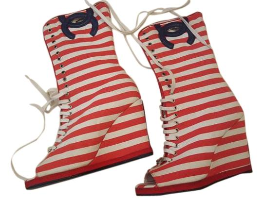 Preload https://item2.tradesy.com/images/chanel-red-and-white-stripe-cruise-2010-bootsbooties-size-us-75-regular-m-b-5212966-0-1.jpg?width=440&height=440