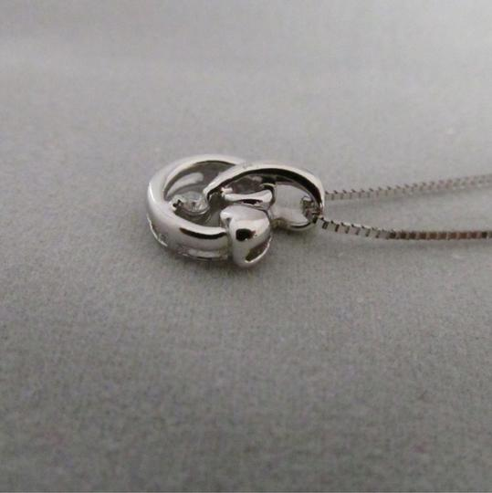 Other 18K Solid White Gold Diamond Pendant