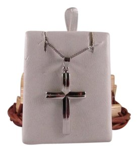 Other 14K Solid White Gold Cross Pendant