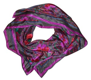 Other Floral Paisley Silk Square Scarf