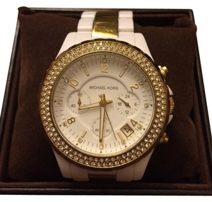 Michael Kors White and gold ceramic Michael Kors watch
