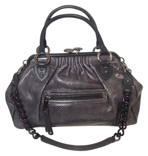 Preload https://item1.tradesy.com/images/marc-jacobs-snake-embossed-stam-rare-gray-leather-satchel-521370-0-0.jpg?width=440&height=440