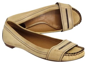 Chlo Leather Moccasin Loafers Flats