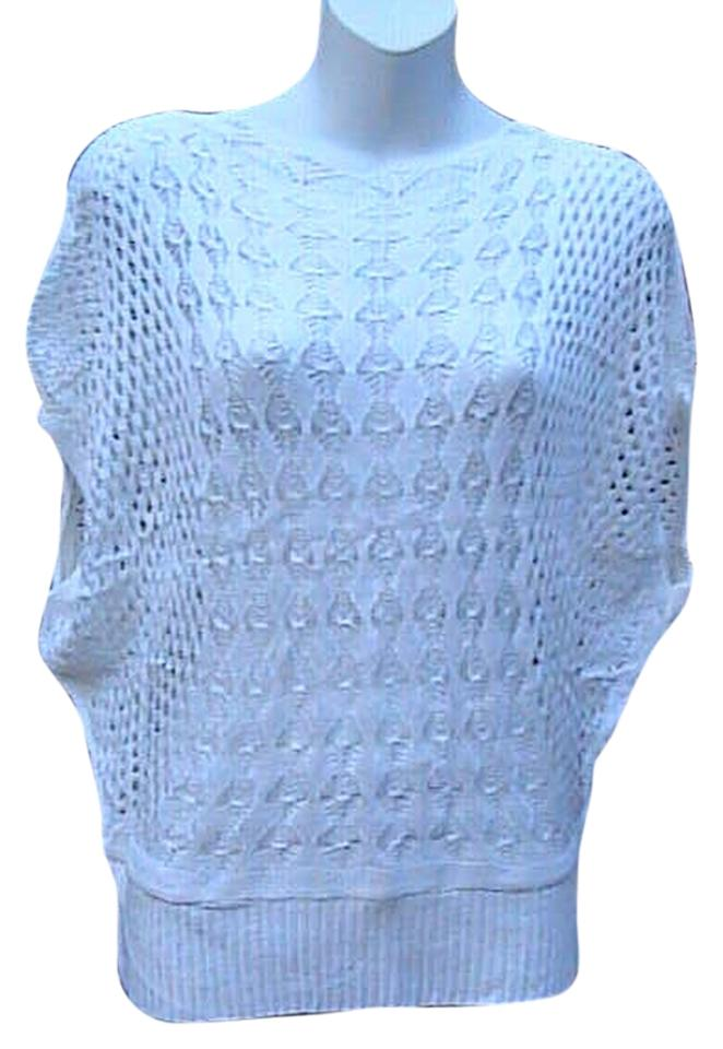 White Crochet Loose Knit Sweaterpullover Size Os One Size Tradesy