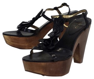 Coach Leather Platform Heels Platforms