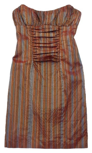 Preload https://item1.tradesy.com/images/nicole-miller-rust-and-blue-striped-silk-strapless-mini-short-casual-dress-size-10-m-5214145-0-0.jpg?width=400&height=650
