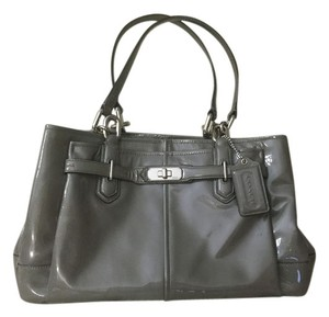 Coach Patent Chelsea Jayden Satchel in grey