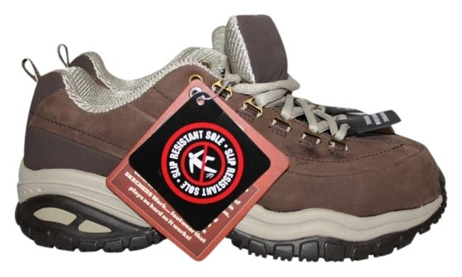 Item - Brown New Safety Toe Work Sneakers Size US 6