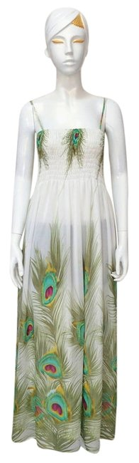Peacock Design Maxi Dress by Other Adorable Bohemia Summer Maxi