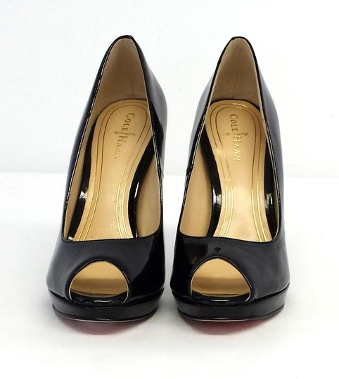 Cole Haan Patent Leather Peep Toe Pumps