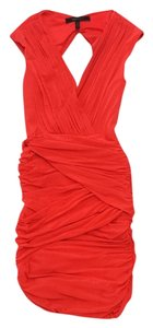 BCBGMAXAZRIA short dress Coral Draped Sleeveless Bodicon on Tradesy