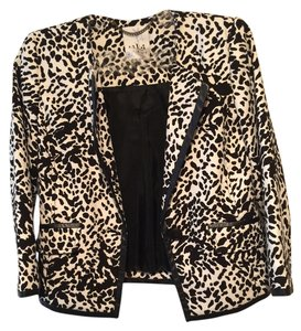 Tibi Printed Black And White Blazer