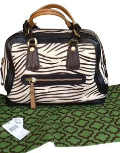 orYANY Hobo Leather Satchel in Zebra
