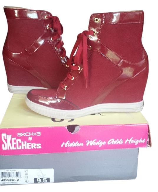 Item - Cranberry Red Tennis Platforms Wedges Sneakers Size US 9.5