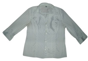 dressbarn Button Down Shirt White