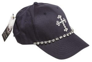 Alexis by Glitzy Bella Navy Blue Truth Velcro Hat NEW