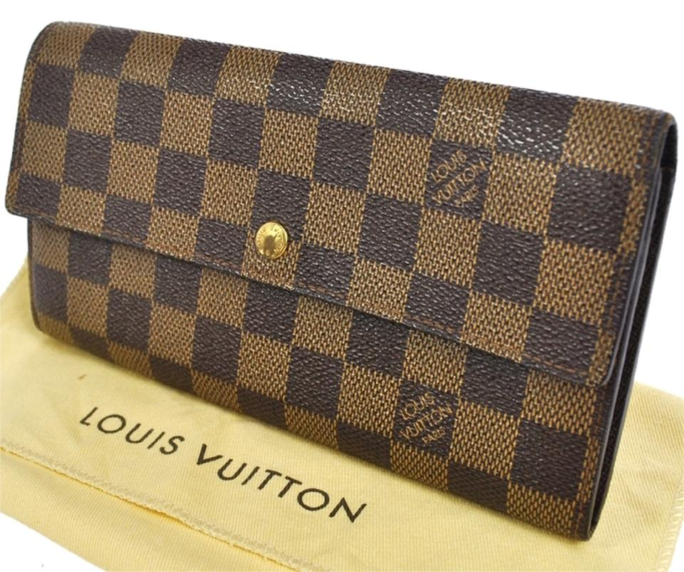 72bf0298d373 Louis Vuitton (Excellent Condition) AUTHENTIC LOUIS VUITTON PORTE MONNAIE  CREDIT SARAH WALLET PURSE DAMIER ...