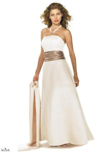 Alexia Designs Cream / Bronze Style 2500 Dress