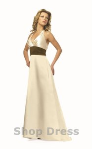Alexia Designs Cream / Chocolate Style 842 Dress