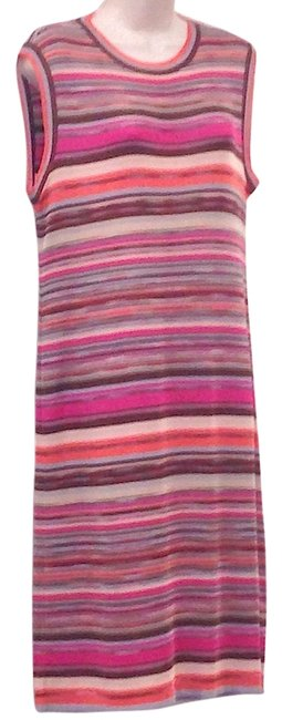 Item - Pink Multi Orange Label In Excellent Condition Mid-length Short Casual Dress Size 10 (M)