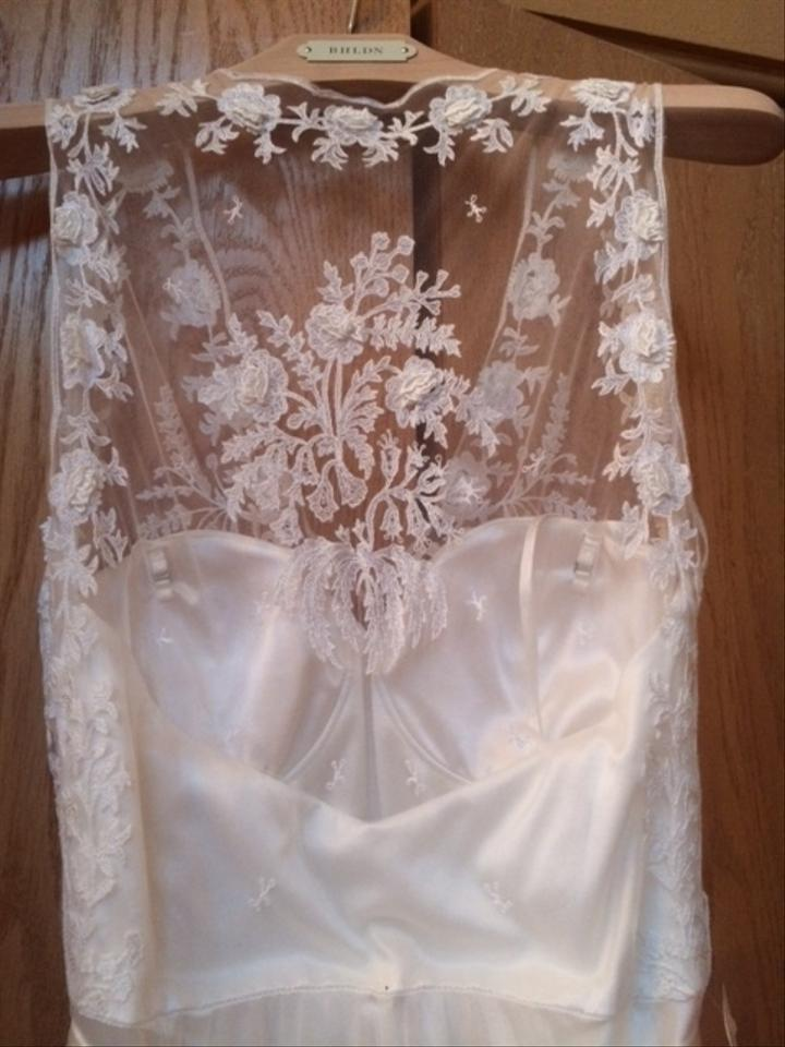 BHLDN White Tulle/Lace Onyx Gown Vintage Wedding Dress Size 4 (S ...