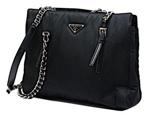 Prada Microfiber Shoulder Bag