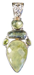 Ross-Simons Ross-Simons Abalone and Quarts Pendant