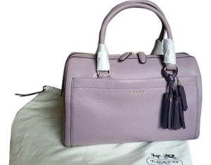 Coach Medium Size Light Satchel in Light Purple/Mauve