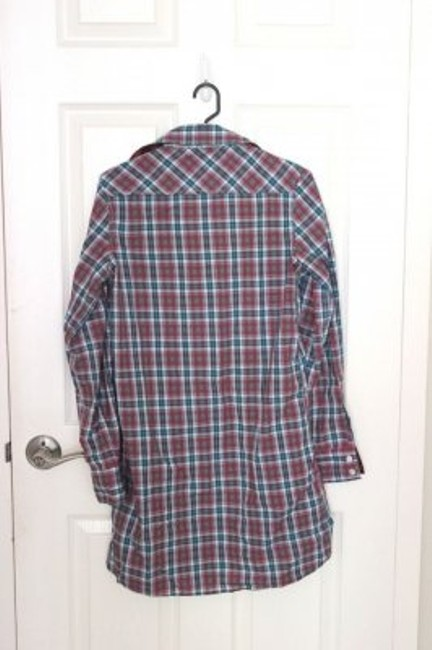 7 For All Mankind Button Down Shirt Plaid