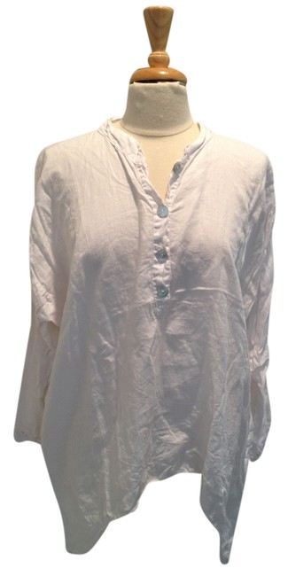 Preload https://item2.tradesy.com/images/white-linen-tunic-size-12-l-5218231-0-0.jpg?width=400&height=650