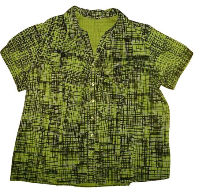 Other Button Down Shirt light olive green/ black