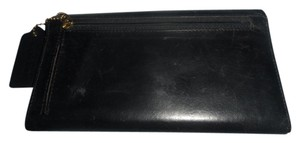 Coach Coach woman's Black Leather wallet Vintage checkbook wallet with tag keychain