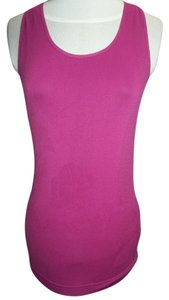 Morera Morera Active Wear Top, Fuschia Razor Back, Built in Bra, Size Large